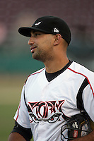 Robert Lara of the Lake Elsinore Storm during game against the Bakersfield Blaze at The Diamond in Lake Elsinore,California on July 25, 2010. Photo by Larry Goren/Four Seam Images