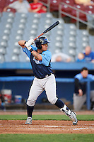 Trenton Thunder catcher Sebastian Valle (52) at bat during the second game of a doubleheader against the Hartford Yard Goats on June 1, 2016 at Sen. Thomas J. Dodd Memorial Stadium in Norwich, Connecticut.  Trenton defeated Hartford 2-1.  (Mike Janes/Four Seam Images)