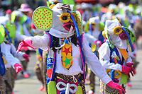 BARRANQUILLA - COLOMBIA, 22-02-2020: Una marimonda durante el desfile Batalla de Flores del Carnaval de Barranquilla 2019, patrimonio inmaterial de la humanidad, que se lleva a cabo entre el 22 y el 25 de febrero de 2020 en la ciudad de Barranquilla. / A marimonda during the Batalla de las Flores as part of the Barranquilla Carnival 2020, intangible heritage of mankind, that be held between March 22 to 25, 2020, at Barranquilla city. Photo: VizzorImage / Alfonso Cervantes / Cont.