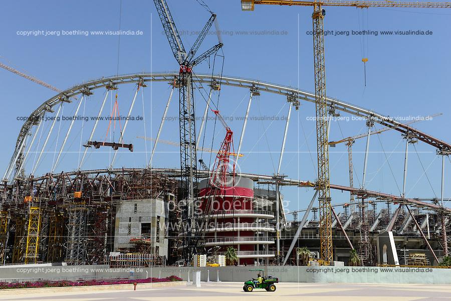 QATAR, Doha, construction site Khalifa International Stadium for FIFA world cup 2022, built by contractor midmac and sixt contract / KATAR, Doha, Baustelle Khalifa International Stadium fuer die  FIFA Fussballweltmeisterschaft 2022
