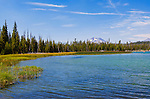 Cascade Lakes Scenic Byway, Little Lava Lake, Oregon Route 46 near LaPine.  A 66 mile national historic scenic byway east of the Cascade Mountains along the Deschutes River.