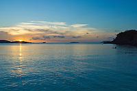 Sunset at Trunk Bay, St John<br /> Virgin Islands National Park