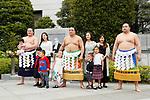(L-R) Hakuho, Harumafuji, Kakuryu, <br /> APRIL 17, 2017 - Sumo : Yasukuni Shrine Honozumo is a ceremonial annual sumo tournament held in the precincts of the Yasukuni Shrine in Tokyo, Japan. (Photo by Yohei Osada/AFLO SPORT)