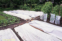 HB07-013x  Garden row coverings - floating row covers - fabric and poly plastic