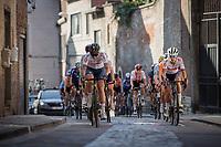 Elizabeth Deignan (GBR/Trek Segafredo) and Georgi Pfeiffer (GBR/DSM) in front of the chasing group up the Sint-Antoniusberg<br /> <br /> Women Elite – Road Race (WC)<br /> Race from Antwerp to Leuven (157.7km)<br /> <br /> ©kramon