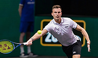 Rotterdam, The Netherlands, 6 march  2021, ABNAMRO World Tennis Tournament, Ahoy,  <br /> Semi final: Marton Fucsovics (HUN). Photo: www.tennisimages.com/henkkoster