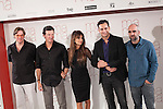 Spanish actress Penelope Cruz, actors Luis Tosar and  Asier Etxeandia and movie director Julio Medem pose during the `Ma Ma´ film presentation in Madrid, Spain. July XX, 2015. (ALTERPHOTOS/Victor Blanco)