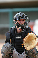 Beau Seabury of the Modesto Nuts during game against the Lancaster JetHawks at Clear Channel Stadium in Lancaster,California on July 15, 2010. Photo by Larry Goren/Four Seam Images