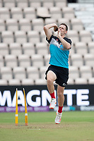 Matt Henry, New Zealand, during a training session ahead of the ICC World Test Championship Final at the Hampshire Bowl on 17th June 2021