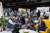 """11. re:publica-Konferenz in Berlin<br /> Vom 8. bis 10. Mai 2017 findet in Berlin die elfte re:publica-Konferenz in Berlin unter dem Motto """"Love Out Loud"""" statt. Die Veranstalter wollen mit dem Motto """"Love Out Loud!"""" (LOL fuer positiv Denkende) ein """"Zeichen fuer Engagement und Emanzipation in der digitalen Gesellschaft setzen"""".<br /> Die Konferenz zum Thema Internet und digitale Gesellschaft bietet auf bis zu 18 Buehnen parallel mehr als 500 Stunden Programm. Ein guter Teil davon dreht sich um netzpolitische Fragestellungen aller Art. Erwartet werden ca. 8.000 Veranstaltungsteilnehmer.<br /> Im Bild: Ein Stand des Internet-Konzern Google.<br /> 8.5.2017, Berlin<br /> Copyright: Christian-Ditsch.de<br /> [Inhaltsveraendernde Manipulation des Fotos nur nach ausdruecklicher Genehmigung des Fotografen. Vereinbarungen ueber Abtretung von Persoenlichkeitsrechten/Model Release der abgebildeten Person/Personen liegen nicht vor. NO MODEL RELEASE! Nur fuer Redaktionelle Zwecke. Don't publish without copyright Christian-Ditsch.de, Veroeffentlichung nur mit Fotografennennung, sowie gegen Honorar, MwSt. und Beleg. Konto: I N G - D i B a, IBAN DE58500105175400192269, BIC INGDDEFFXXX, Kontakt: post@christian-ditsch.de<br /> Bei der Bearbeitung der Dateiinformationen darf die Urheberkennzeichnung in den EXIF- und  IPTC-Daten nicht entfernt werden, diese sind in digitalen Medien nach §95c UrhG rechtlich geschuetzt. Der Urhebervermerk wird gemaess §13 UrhG verlangt.]"""