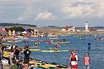 Puget Sound, Sea Kayakers, Point Wilson Lighthouse, Port Townsend, Washington State, Admiralty Inlet, Fort Worden State Park, Sea Kayaking Symposium, summer, .