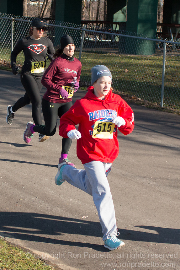 The 2018 Barnesville Park Rotary Lake 5K walk/run, Barnesville, Ohio March 31, 2018.