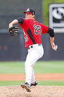 Starting pitcher Justin Grimm #25 of the Hickory Crawdads in action against the Greensboro Grasshoppers at L.P. Frans Stadium on May 18, 2011 in Hickory, North Carolina.   Photo by Brian Westerholt / Four Seam Images
