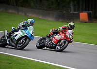 Shane Byrne (67) of Be Wiser Ducati and Dean Harrison (9) of Silicone Engineering Racing during 2nd practice in the MCE BRITISH SUPERBIKE Championships 2017 at Brands Hatch, Longfield, England on 13 October 2017. Photo by Alan  Stanford / PRiME Media Images.