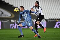 Josip Ilicic of Atalanta BC and Simone Bastoni of Spezia Calcio compete for the ball during the Serie A football match between Spezia Calcio and Atalanta BC at Dino Manuzzi stadium in Cesena (Italy), November 20th, 2020. Photo Andrea Staccioli / Insidefoto