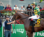 July 5, 2021: Gufo, ridden by Joel Rosario, wins the 2021 running of the Grand Couturier S. at Belmont Park in Elmont, NY. Sophie Shore/ESW/CSM
