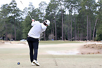 PINEHURST, NC - MARCH 02: Michael Brennan of Wake Forest University tees off on the sixth hole at Pinehurst No. 2 on March 02, 2021 in Pinehurst, North Carolina.