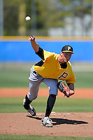 Pittsburgh Pirates pitcher Tyler Glasnow #80 during a minor league spring training game against the Toronto Blue Jays at Englebert Minor League Complex on March 16, 2013 in Dunedin, Florida.  (Mike Janes/Four Seam Images)