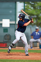 Cleveland Indians Nathan Lukes (36) during an instructional league game against the Los Angeles Dodgers on October 15, 2015 at the Goodyear Ballpark Complex in Goodyear, Arizona.  (Mike Janes/Four Seam Images)