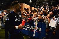 San Jose, CA - Monday July 10, 2017: Danny Hoesen, fans after a U.S. Open Cup quarterfinal match between the San Jose Earthquakes and the Los Angeles Galaxy at Avaya Stadium.