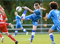20160513 - LIEGE , BELGIUM : Gent's Bieke Vandenbussche pictured during a soccer match between the women teams of  Standard Femina De Liege and KAA Gent Ladies , during the fifth matchday in the SUPERLEAGUE Playoff 1 , Friday 13 May 2016 . PHOTO SPORTPIX.BE / DAVID CATRY