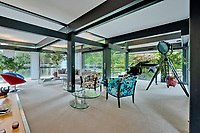 BNPS.co.uk (01202) 558833. <br /> Pic: Savills/BNPS<br /> <br /> Pictured: Living space. <br /> <br /> The UK home of Hollywood actor Antonio Banderas is on the market for £2.95m.<br /> <br /> The Mask of Zorro star moved from LA to Cobham in Surrey in 2015 with girlfriend Nicole Kimpel after splitting from his wife of 20 years Melanie Griffiths.<br /> <br /> They are now selling their home to spend more time in Banderas' native Malaga, where he has bought and built a theatre.