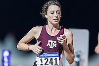Hillary Montgomery of Texas A&M competes in 10000 meter semifinal during West Preliminary Track & Field Championships at John McDonnell Field, Thursday, May 29, 2014 in Fayetteville, Ark. (Mo Khursheed/TFV Media via AP Images)