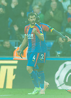 Crystal Palace Luka Milivojevic celebrating after scoring during the Premier League match between Crystal Palace and Arsenal at Selhurst Park, London, England on 28 October 2018. Photo by Andrew Aleksiejczuk / PRiME Media Images.