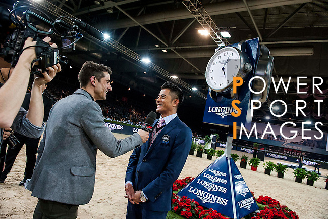Riders in action at the Longines Grand Prix during the Longines Hong Kong Masters 2015 at the AsiaWorld Expo on 15 February 2015 in Hong Kong, China. Photo by Juan Flor / Power Sport Images