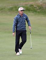 Sunday 31st May 2015; Rickie Fowler, USA, on the 2nd green<br /> <br /> Dubai Duty Free Irish Open Golf Championship 2015, Round 4 County Down Golf Club, Co. Down. Picture credit: John Dickson / DICKSONDIGITAL