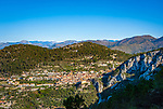 Frankreich, Provence-Alpes-Côte d'Azur, Peille: Bergdorf (Village Perché) an den Auslaeufern der franzoesischen Seealpen, abseits der Touristenstroeme | France, Provence-Alpes-Côte d'Azur, Peille: mountain village (Village Perché) in the French Maritime Alps