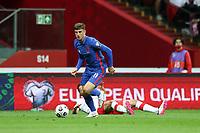 8th September 2021; PGE National Stadium, Warsaw, Poland: FIFA World Cup 2022 Football qualification, Poland versus England;  MASON MOUNT breaks towards goal on the ball