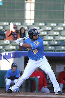 Myrtle Beach Pelicans outfielder Zach Cone #12 at bat during a game against the Potomac Nationals at Ticketreturn.com Field at Pelicans Ballpark on April 16, 2014 in Myrtle Beach, South Carolina. Potomac defeated Myrtle Beach 7-3. (Robert Gurganus/Four Seam Images)