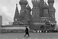- Moscow, January 1988,The St. Basil Cathedral on Red Square....- Mosca, gennaio 1988, la cattedrale di S.Basilio sulla Piazza Rossa