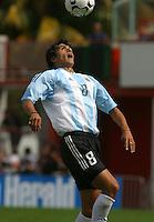 Luis Gonz‡lez, Argentina vs. USA, Miami, Fla.