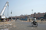 Stray people move around the Sealdah Railway station area (the largest railway station in the centre of Kolkata)during 21 days lockdown in India for Corona Virus pandemic. Kolkata, West Bengal, India, Arindam Mukherjee.
