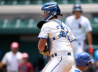 Tampa Jesuit Tigers catcher Cole Russo (22) during the 42nd Annual FACA All-Star Baseball Classic on June 5, 2021 at Joker Marchant Stadium in Lakeland, Florida.  (Mike Janes/Four Seam Images)
