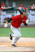 July 10th 2008:  Jesus Avila of the Great Falls Voyagers, Rookie Class-A affiliate of the Chicago White Sox, during a game at the Home of the Owlz Stadium in Orem, UT.  Photo by:  Matthew Sauk/Four Seam Images