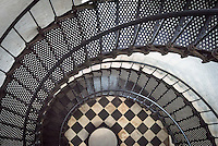 The historic St. Augustine lighthouse on Anastasia Island. The architectural details inside the lighthouse are fascinating when viewed through the camera's lens.