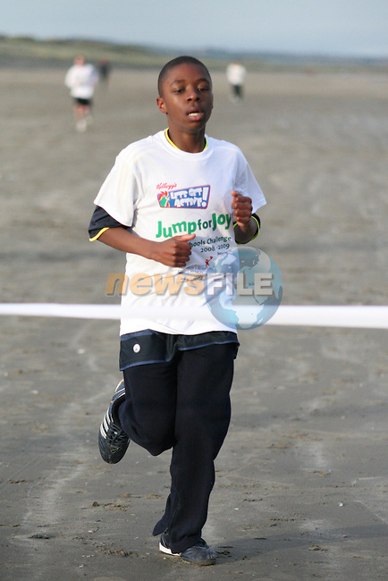 Maxwell Ibeto finishes in third place at the Coláiste na hInse, Jump for Joy Fun Run in aid of Crumlin Childrens Hospital....Photo NEWSFILE/Jenny Matthews.(Photo credit should read Jenny Matthews/NEWSFILE)....This Picture has been sent you under the condtions enclosed by:.Newsfile Ltd..The Studio,.Millmount Abbey,.Drogheda,.Co Meath..Ireland..Tel: +353(0)41-9871240.Fax: +353(0)41-9871260.GSM: +353(0)86-2500958.email: pictures@newsfile.ie.www.newsfile.ie.FTP: 193.120.102.198.