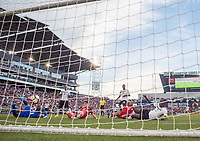 Commerce City, CO - Thursday June 08, 2017: Christian Pulisic goal score, goal cam during a 2018 FIFA World Cup Qualifying Final Round match between the men's national teams of the United States (USA) and Trinidad and Tobago (TRI) at Dick's Sporting Goods Park.