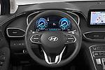 Car pictures of steering wheel view of a 2021 Hyundai Santa-FE Shine 5 Door SUV Steering Wheel