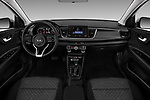 Stock photo of straight dashboard view of a 2018 KIA Rio S 4 Door Sedan