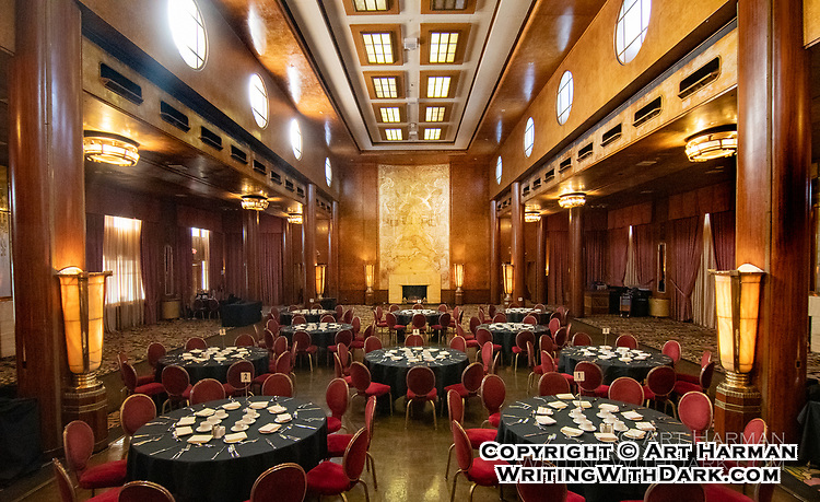 """Queen Mary"" Banquet by Art Harman. The historic art-deco ocean liner in Long Beach CA is host to many banquets and special events"