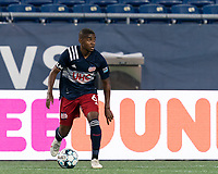 FOXBOROUGH, MA - AUGUST 26: Maciel #6 of New England Revolution II looks to pass during a game between Greenville Triumph SC and New England Revolution II at Gillette Stadium on August 26, 2020 in Foxborough, Massachusetts.