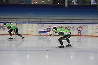 SCHAATSEN: HEERENVEEN: 21-12-2019, IJsstadion Thialf,KNSB trainingswedstrijd, Michel en Ronald Mulder, ©foto Martin de Jong