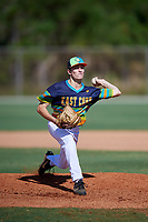 Andrew Armstrong during the WWBA World Championship at the Roger Dean Complex on October 19, 2018 in Jupiter, Florida.  Andrew Armstrong is a left handed pitcher from Buford, Georgia who attends Flowery Branch High School.  (Mike Janes/Four Seam Images)