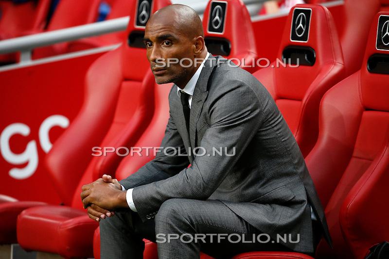 Nederland, Amsterdam, 15 augustus 2015<br /> Eredivisie<br /> Seizoen 2015-2016<br /> Ajax-Willem ll (3-0)<br /> Orlando Trustfull, assistent-coach van Ajax