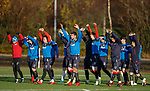 Rangers players at training