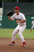 July 17, 2003:  first baseman Bryan Hansen of the Batavia Muckdogs during a game at Dwyer Stadium in Batavia, New York.  Photo by:  Mike Janes/Four Seam Images